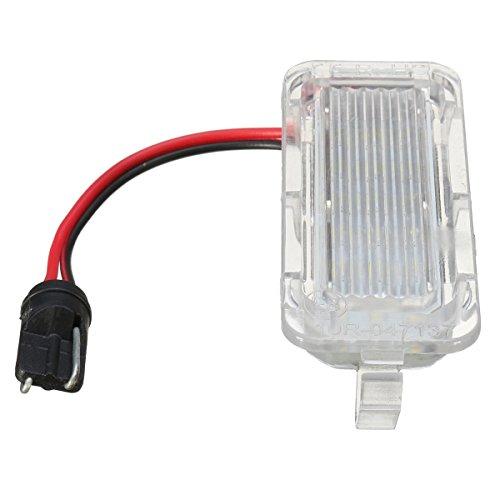 WINOMO 12V LED Kennzeichenbeleuchtung Lampe Tag Licht mit 18 LEDs weißes Licht 2 PCS