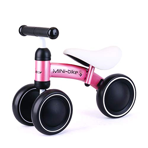Baby Balance Bikes Bicycle for 1-2 Year Old Girl/Boy, Cycling Christmas Toy for Gifts Pink