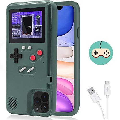 Dikkar Estuche Game para iPhone, Estuche Autoamplificado con Cubierta Protectora Retro con 36 Juegos Pequeños, Pantalla a Todo Color, Estuche para Videojuegos para iPhone X/Xs/MAX/Xr/6/7/8 Plus/11