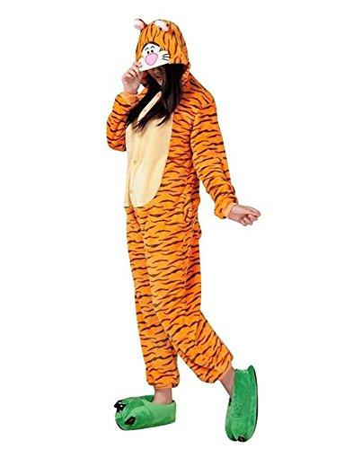 Kigurumi Adulto Costumi Animali per Carnevale Halloween o Spettacolo Party Show di Natale Pigiama Tuta da Cosplay Onesies Intimo Zoo Invernale Unisex da Donna e Uomo (Small, Tigre)