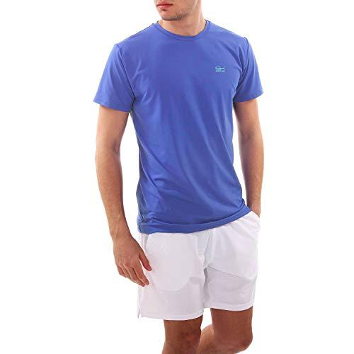 SPORTKIND - Camiseta de Tenis para Hombre y niño (Cuello Redondo), Todo el año, Color kornblumen Blau, tamaño S (= Gr. 46)