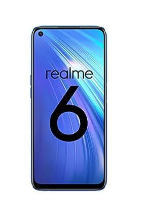 """realme 6 – Smartphone de 6.5"""", 8 GB RAM + 128 GB ROM, Procesador OctaCore, Cuádruple Cámara AI 64MP, Dual Sim, Color Comet Blue [Versión ES/PT]"""