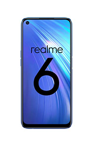 "realme 6 – Smartphone de 6.5"", 4 GB RAM + 64 GB ROM, Procesador OctaCore, Cuádruple Cámara AI 64MP, Dual Sim, Color Comet Blue"