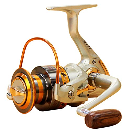 Iusun Fishing Reels EF500-EF9000 12BB Metal Spool Folding Arm Left Right 5.2:1 Spinning Reel Saltwater Freshwater Wheel Gear Light Weight Ultra Smooth Powerful High Speed Low Profile Baitcasting