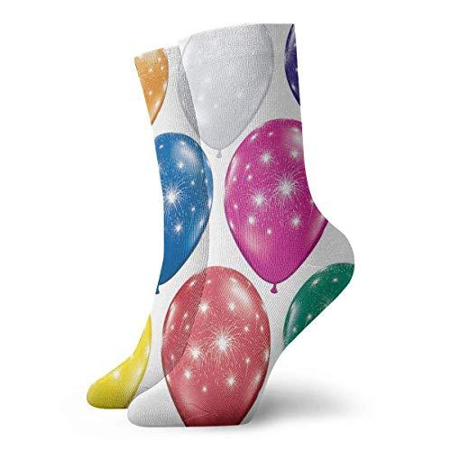 N/A Business Socken,High Performance Kurzsocke,Anzug-Socken,Tennissocken,Bunte Luftballons Männer Frauen Langlebige Sport Sport Socke Für Walking Wandern Erholung