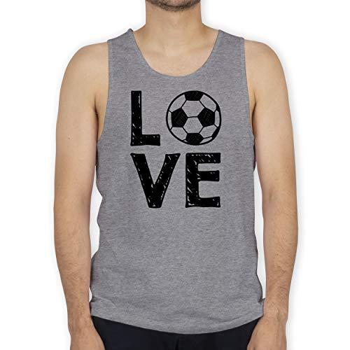Shirtracer Fußball - Love Fußball - M - Grau meliert - Tank Top - BCTM072 - Tanktop Herren und Tank-Top Männer
