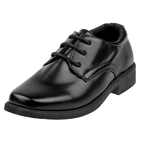 Josmo Boys Classic Oxford Casual Dress Shoe, Size 2 Little Kid, Black