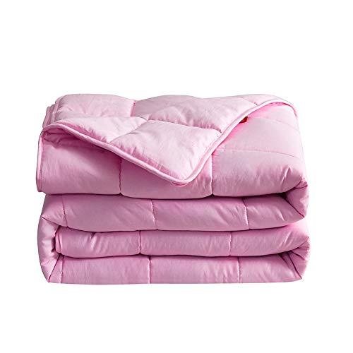 Mettime Gewichtete Decke Kuscheldecken Weighted Blanket Anti Stress für Schneller und Besser Schlafen, Ideal für Entspannung 100{7fff1da6555e2d6eea55455eb02436e0991f40ecccd6f3356ba97828516558bb} Baumwolle, Besseren Schlaf für Erwachsene und Kinder