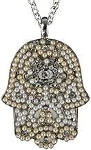Hamsa Hand Pendant Necklace for Women - Yair Emanuel Large Hamsa Necklace Gold