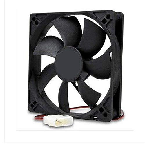 JPVGIA Cooler Master 12cm 12V PC alimentación de Ventilador silencioso de 120mm Caso del Ventilador del chasis for Caja de enfriamiento Reemplazo de la Fuente de Interfaz Ventilador Molex