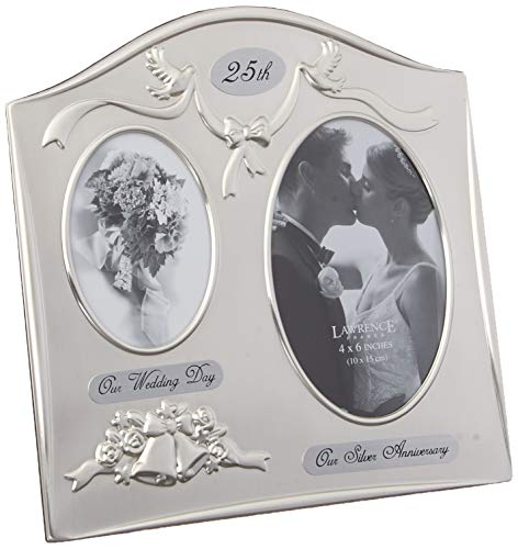 Silver Picture Frames are perfect gifts for 25th wedding anniversary to a couple