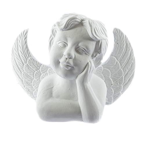 Knüllermarkt 31598-002 I Engel Büste aus Keramik I I Weihnachten I Deko I Figuren I Winter Weiß