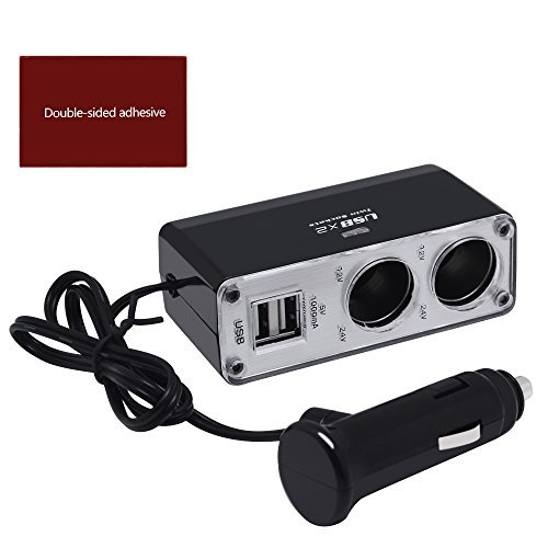 Preisvergleich Produktbild whobabe Twin Steckdose Doppel-USB Auto KFZ Zigarettenanzünder Splitter Adapter