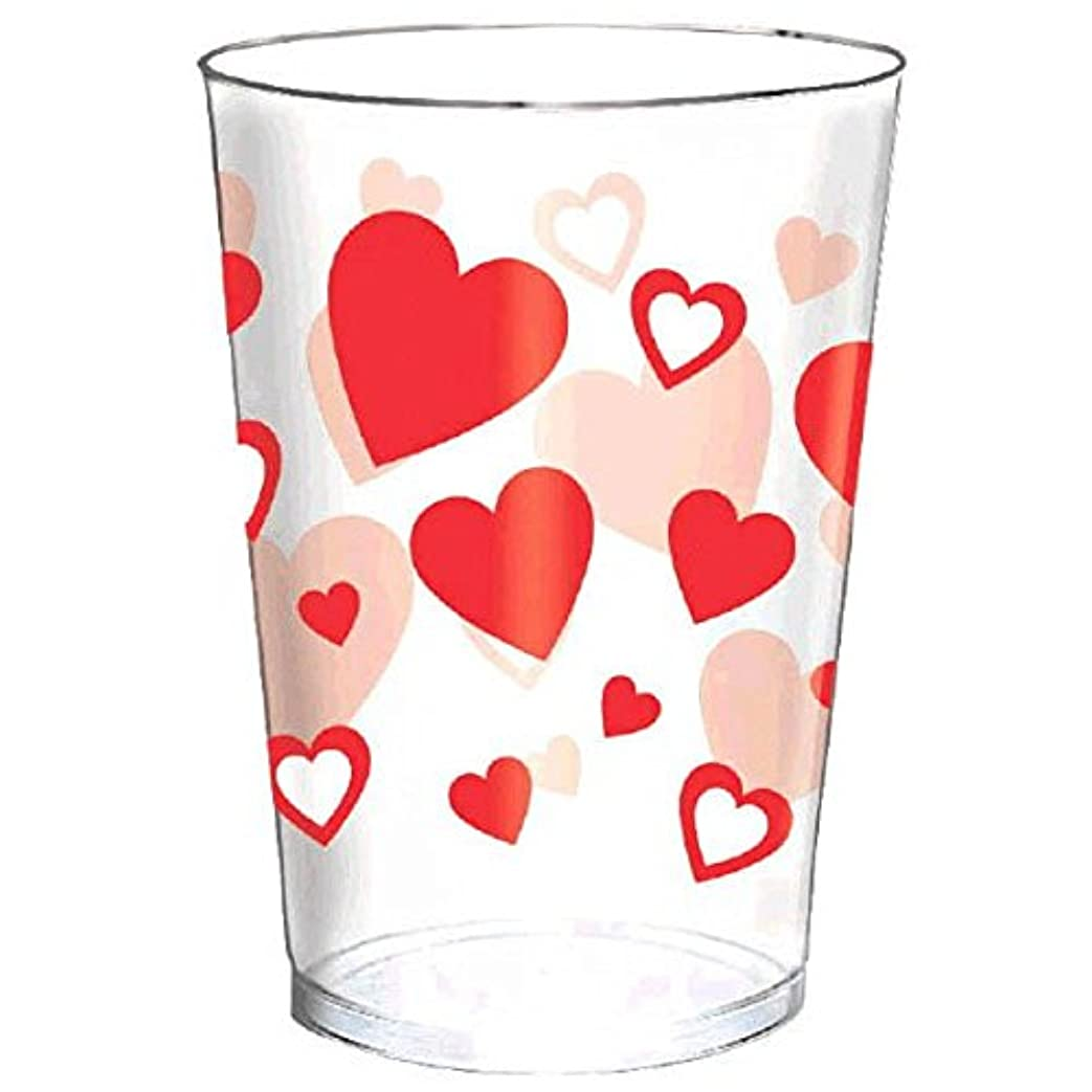 確保する突然罪悪感Amscan Radiantバレンタインの日パーティーハートタンブラーテーブルウェア( 30?Piece )、クリア、10オンス