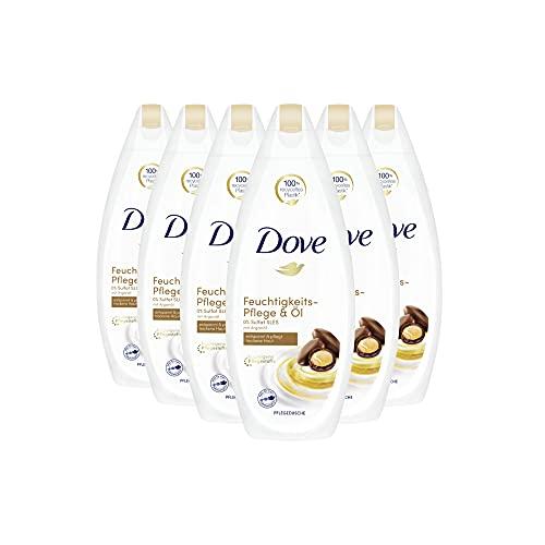 Dove Cremedusche 6er Pack für trockene Haut Pflege & Öl 0% Sulfat(SLES) (6 x 250 ml)