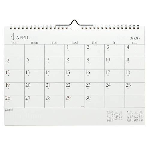 エトランジェ ディ コスタリカ カレンダー 4月始まり 壁掛け 2020年 A4 アイボリー CLG43-A4-01