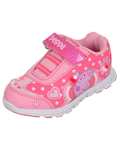 Peppa Pig Toddler Girl's Light Up Pink Sneakers
