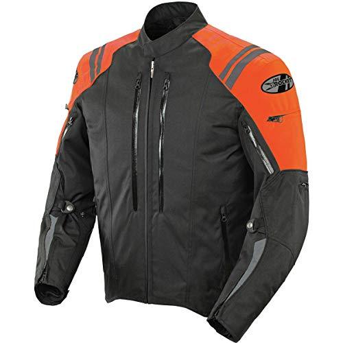 Joe Rocket Atomic 4.0 Men's Textile Motorcycle Jacket (Black/Orange)