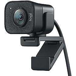 Logitech StreamCam – Webcam per Live Streaming su Youtube e Twitch, Full HD 1080p a 60 fps, Connessione USB-C, Facial Tracking, Autofocus, Video Verticali, Grigio Scuro