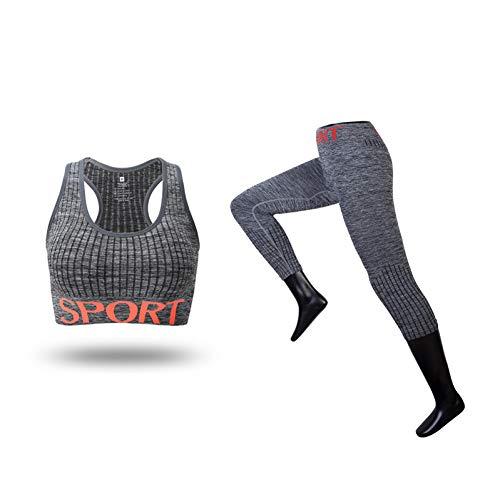 DUKUE Ropa Deportiva para Mujer Conjunto de Yoga Ropa Deportiva Ropa Deportiva Mujer Gimnasio Sujetador Leggings Trajes Deportivos Conjunto Deportivo de Entrenamiento