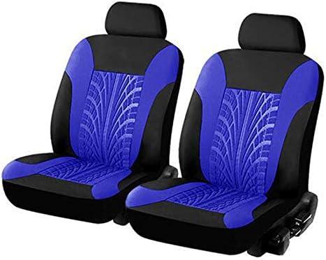 Jdwbt Sitzbezüge Auto Vordersitze Universal Autositzbezüge 2er Set Schonbezüge Vorne Sitzbezug Schoner Blau Schwarz Blau Auto