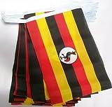 AZ FLAG Guirlande 6 mètres 20 Drapeaux Ouganda 21x15 cm - Drapeau ougandais 15 x 21 cm