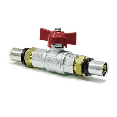 Pipetec Pressfitting Kugelhahn Absperrhahn 20x2 mm TH Kontur Verbundrohr