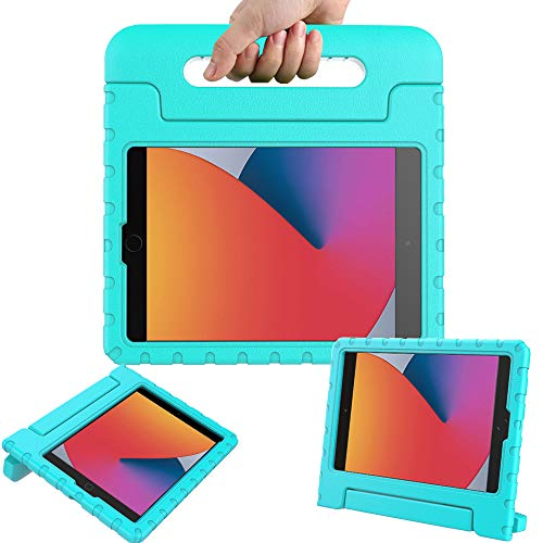 Surom Case for New iPad 10.2 Inch 2020/2019 (8th/7th Generation), Shockproof Lightweight Kids Friendly Convertible Handle Stand Protective Case for 2020/2019 iPad 10.2, iPad Air 3 10.5 2019, Turquoise