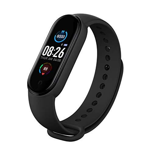 Fitness Tracker Orologio Sport M5 Intelligente Bluetooth Braccialetto Impermeabile IP67,Dormire,Meteorologico,Cardiofrequenzimetro,Pressione Sanguigna,SMS per Donna Uomo