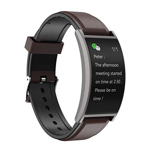 Nerplro T20 Smartwatch, gebogener Bildschirm, 3,8 cm (1,5 Zoll) HD-Display, IP67 wasserdichte Uhr, Blutdruck-Fitness-Tracker, Pulsmesser, Wetter für iOS/Android