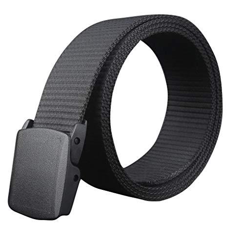 Preisvergleich Produktbild Ominee 2019 Geflochtener elastischer Stoff und Schnalle aus Zinklegierung,  für Damen und Herren,  Schwarz