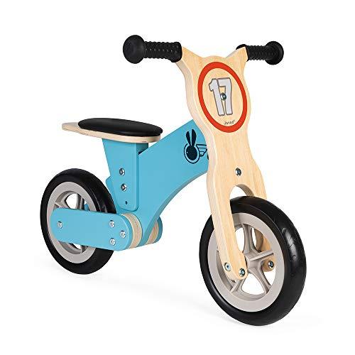 Bicicleta de Equilibrio de Madera Bikloon Little Racer - Juguete para Exteriores y Exteriores - Sillín Ajustable - Aspecto Retro Vintage - Certificado FSC - A Partir de 2 años
