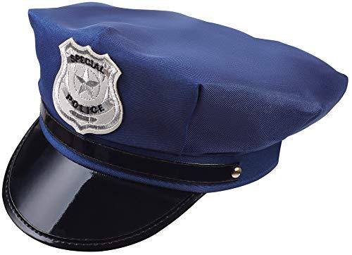 Balinco Polizeimuetze Polizei Hut Cap Schirmmuetze dunkelblau Fuer Damen & Herren