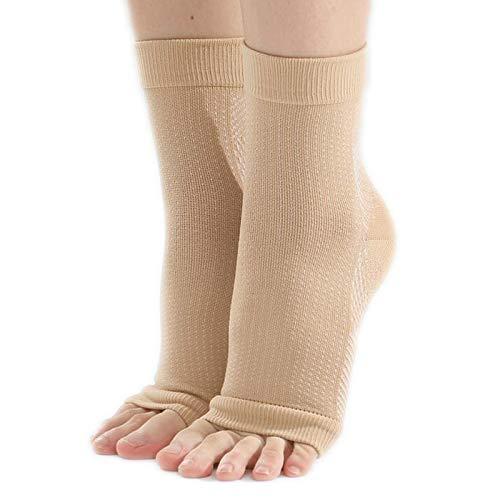 3 paar sokken gel hiel hielbescherming calcaneal hiel bandage Vochtinbrengende Sokken,Flesh