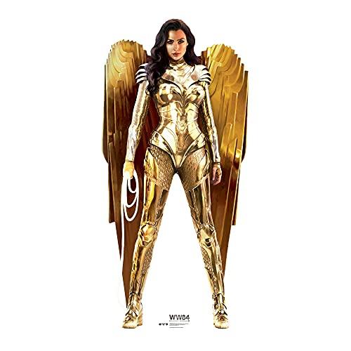 Star Cutouts Ltd-SC1672 Wonder Woman 1984 Gold Armour l GAL Gadot l Figura de cartón de tamaño Real con Soporte Mini Gratis, Perfecto para fanáticos, coleccionistas, Fiestas, Multicolor (SC1672)