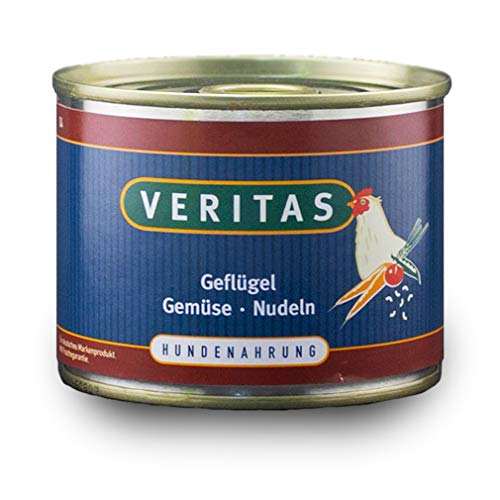 veritas Hundemenü Hundefutter nass – Gourmet Sorte Geflügel Gemüse Nudeln - Nassfutter für Erwachsene Hunde I Hundenassfutter (5X 200g)