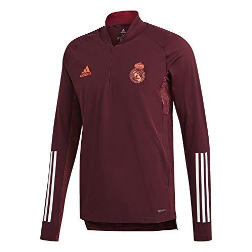 Adidas Real Madrid - Chaqueta Entrenamiento UCL Oficial EU TR TOP Temporada 2020/21, Unisex, M, Granate