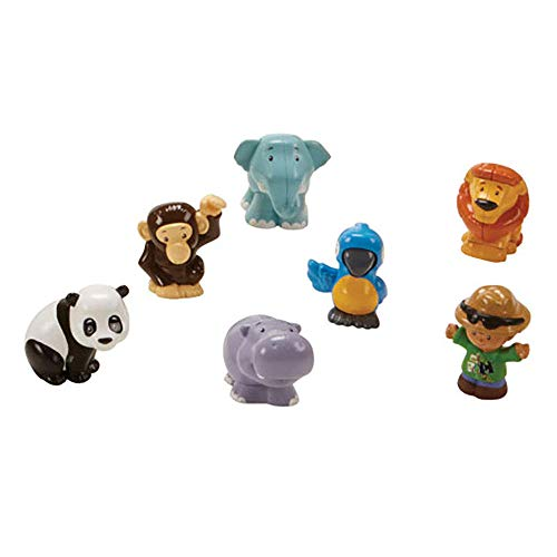 Fisher-Price Replacement Zookeeper and Animals Little People Share and Care Safari FHF35 - Includes 6 Animal Figure and 1 Zookeeper