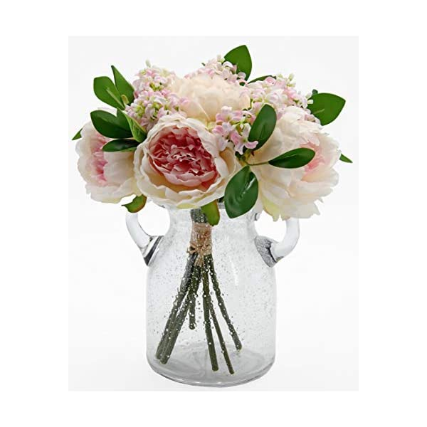 Springs Flowers Artificial Silk Peony Bouquets Wedding and Home Decoration