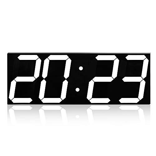 XYSQWZ Reloj De Pared Creativo Led EstéReo Reloj Despertador Digital Caja De AcríLico Reloj De Moda Control Remoto con FuncióN De Memoria De Apagado para Una Amplia Gama De Aplicaciones