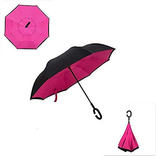 ZJJJD Paraguas Paraguas Invertido Anti-Ultravioleta Paraguas De Doble Capa Plegable A Prueba...