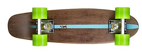 Ridge Skateboards Maple Mini Dark Dye - Longboard, Color Verde, Talla 22-Inch