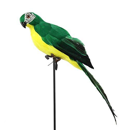 dewdropy - Figura Decorativa de Pluma de Loro, Macaw, para jardín, decoración de pájaro, Espuma de Pluma, Loro, decoración de la casa, 35 cm, e