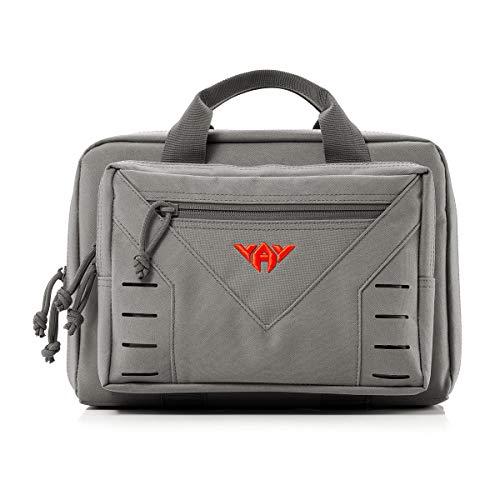 Tactical Pistol Case Soft Range Bag for Handguns 10L (Black)