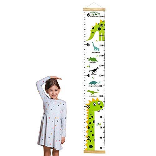 Medidor Altura Niños cm y Pies Tabla de Crecimiento de Dinosaurio de Doble Escala Tabla de Medición de Altura de Pared Infantil 50-180cm