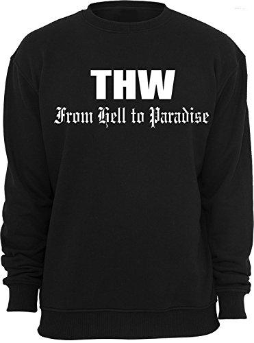 THW from hell to Paradise; Sweatshirt; schwarz; Unisex; 46; Gr. S