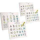 [2 Piezas] Hautton Tablero Magnético de Abecedario para Niños, Letras de A a Z...