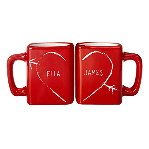 Let's Make Memories Personalized Coffee Mug Set - Holiday for Couples - Customized for Couples - Customize with Your Name - Coffee Mug - Mug Set of 2- Holds 8 oz Each