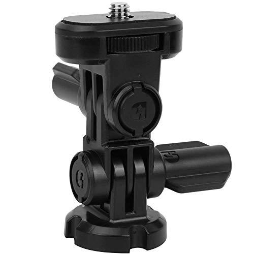 Supporto angolare telecamera, telecamera sportiva 3 vie 1/4 vite attacco treppiede adattatore supporto zaino per action cam HDR-AS200V HDR-AS300 HDR-AS30V HDR-AS100V HDR-AZ1 HDR-AS15 HDR-AS20 HDR-AS50