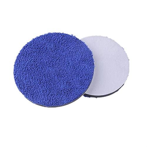 Lixiaonmkop 3/4 / 5 / 6InCH 2 UNIDS Microfibra Pulido de microfibra Depilación Pulido Kits Micro Fiber Fibra para Pulidor de automóvil Pading Pad Accesorios para automóviles (Material : 5inch)